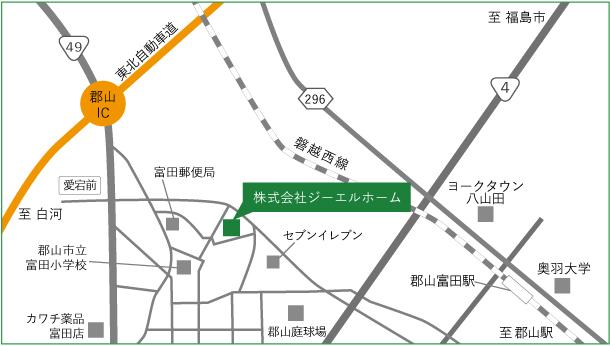 株式会社ジーエルホーム,福島県郡山市,地図